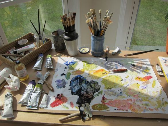 Palette with Oil Paint