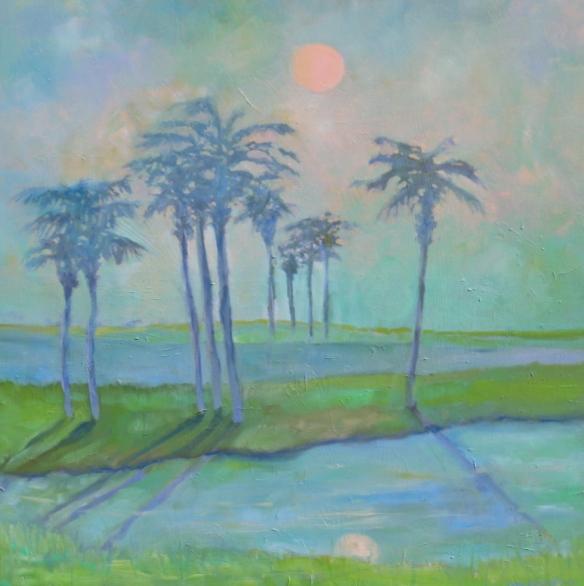 "Moonmist, Oil on Canvas, 30"" x 30"", 2013"